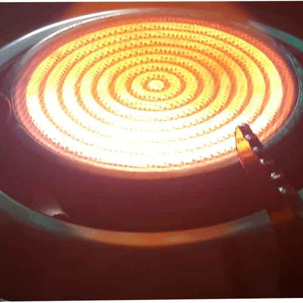 Bộ điếu inox hồng ngoại fi90mm, thay thế cho các dòng bếp hồng ngoại cùng kích thước ( đen ) - Hàng chính hãng
