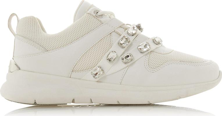 Giày Sneaker Nữ Extraa S Dune London Lace Ups - White-Synthetic