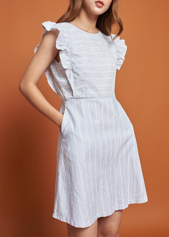 Đầm Nữ Sọc Mint Basic 1453PI - Xanh Da Trời Nhạt Size L