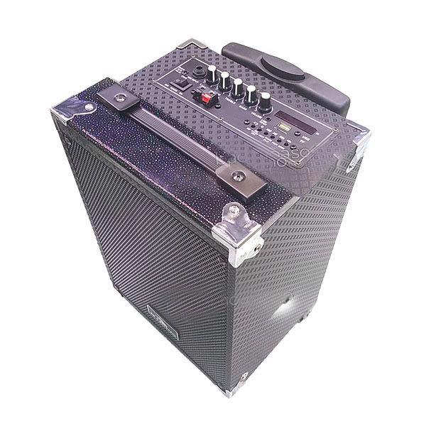 Loa kẹo kéo karaoke bluetooth di động q8 plus kèm 2 micro không dây