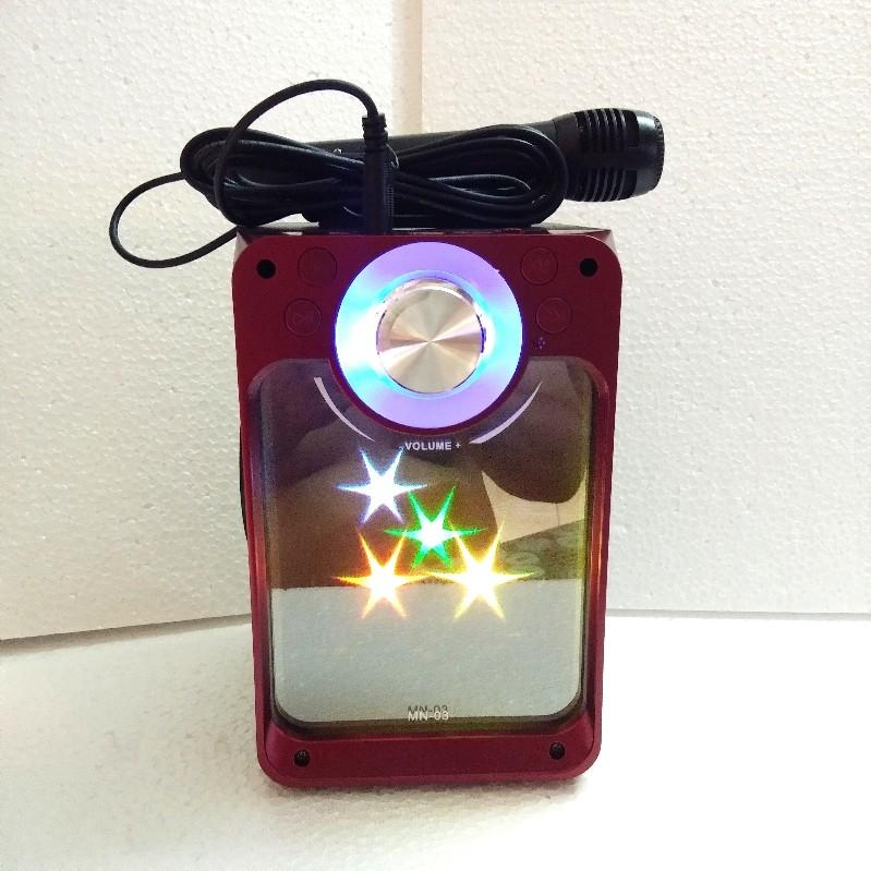 Loa Karaoke Bluetooth MN-03 có Led - Kèm Mic có dây
