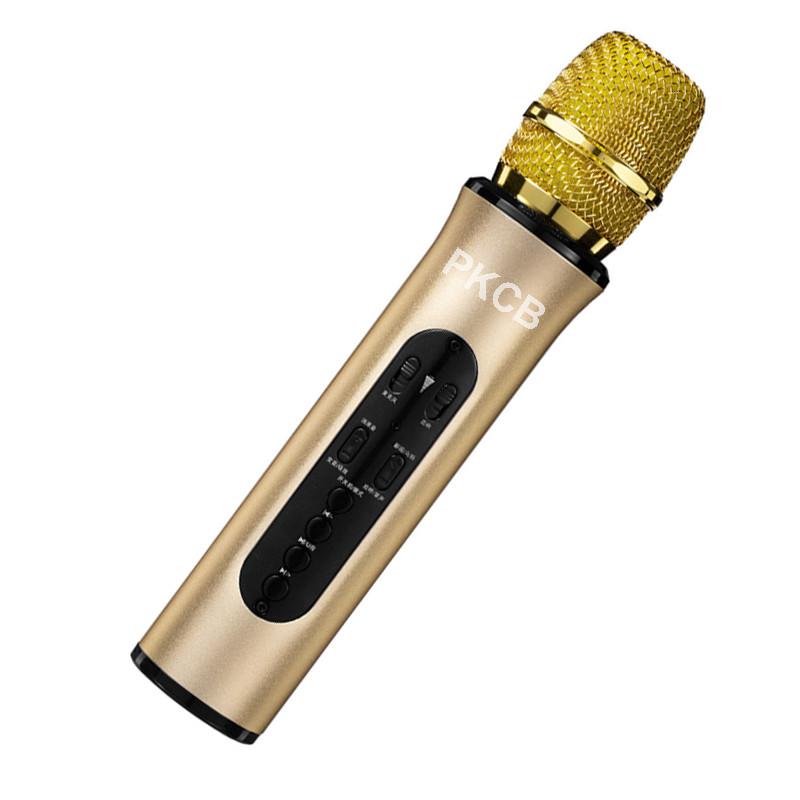 Micro Hát Karaoke Bluetooth Kết Nối Không Dây Cao Cấp Âm Thanh Chân Thật PKCB -Hàng Chính Hãng
