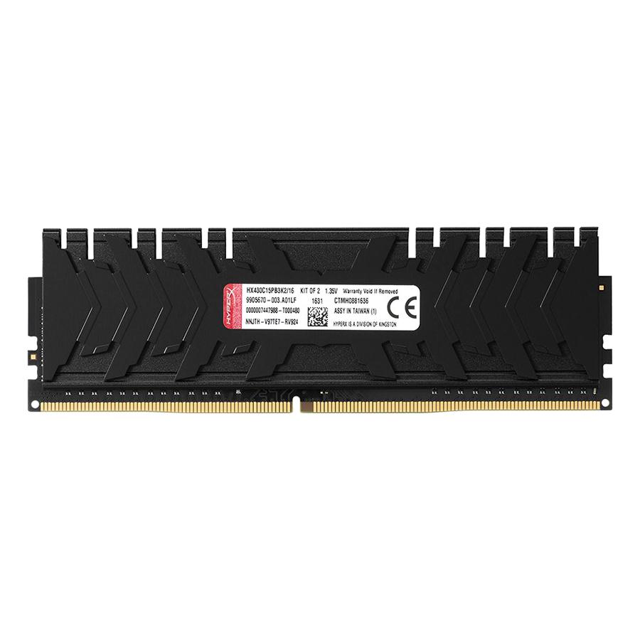 Bộ 2 Thanh RAM PC Kingston 16GB HyperX Predator Black (2 x 8GB) DDR4 3200MHz HX432C16PB3K2/16 - Hàng Chính Hãng