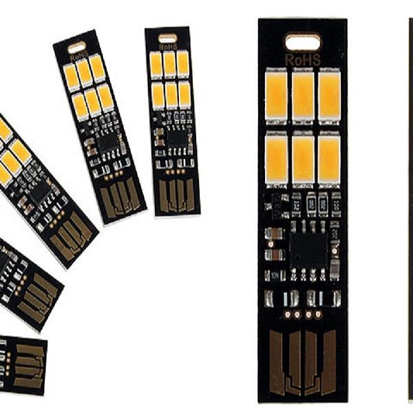 Đèn 6 led cảm ứng cắm USB