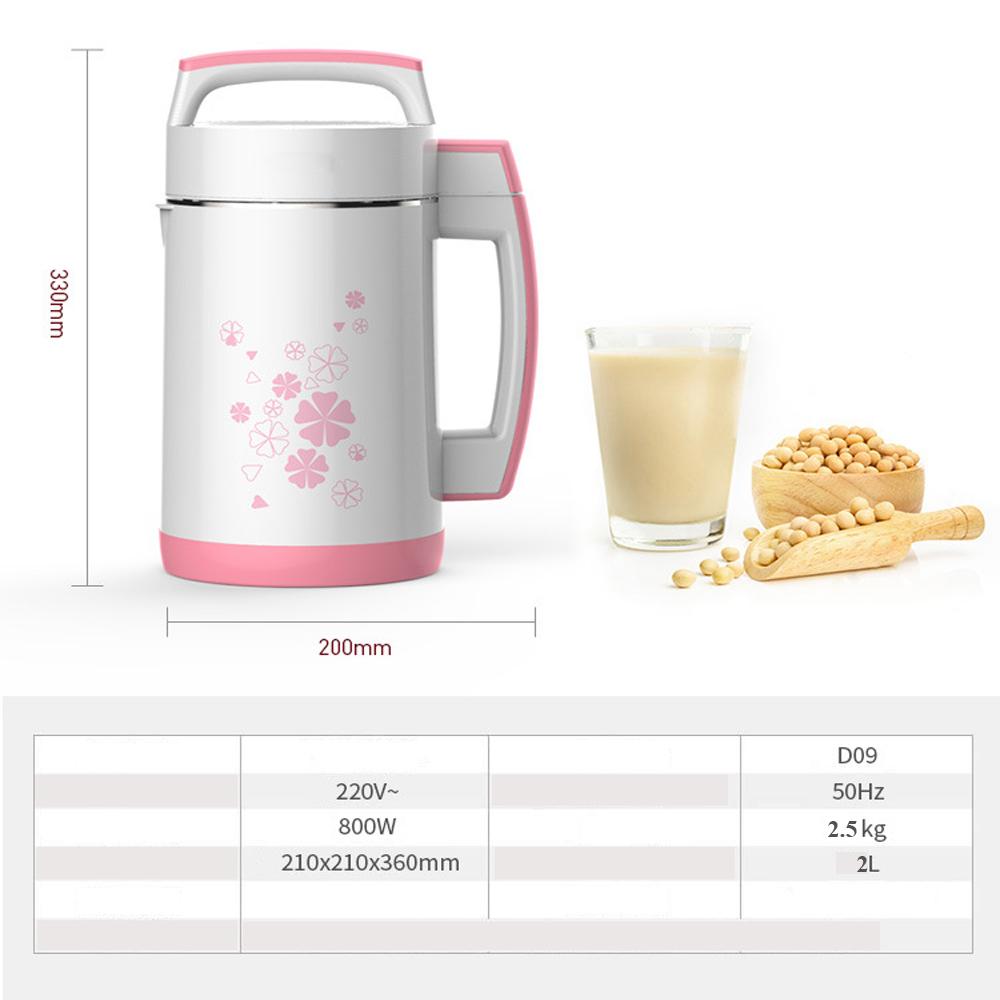 Máy làm sữa đậu nành D0920 dung tích 2L, công suất lên đến 800W chế biến nhanh chóng sữa ngô,sữa hoa quả