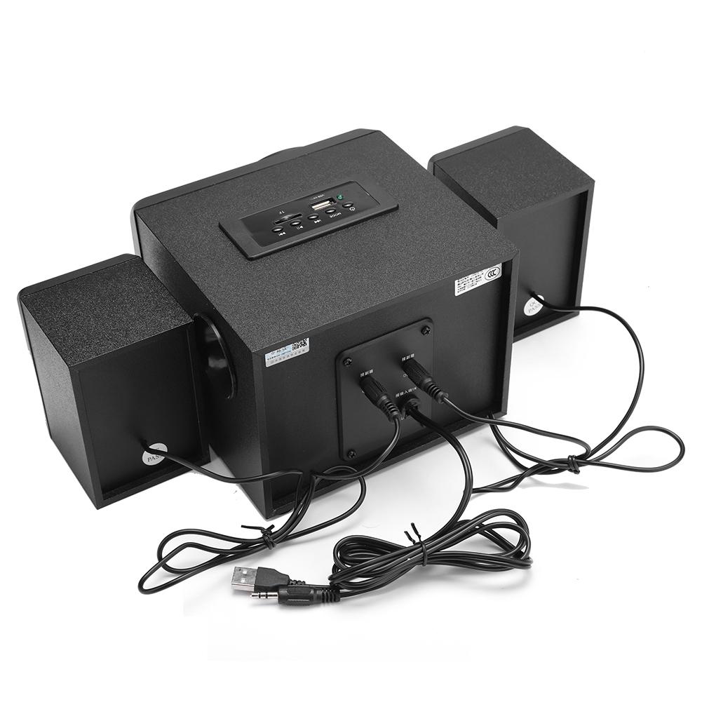 Hàng Chính Hãng - Loa Máy Vi Tính SADA D-208 Vỏ Gỗ, Hỗ Trợ Bluetooth 5.0, Đèn Led 7 Màu, Chống Nước Cao Cấp
