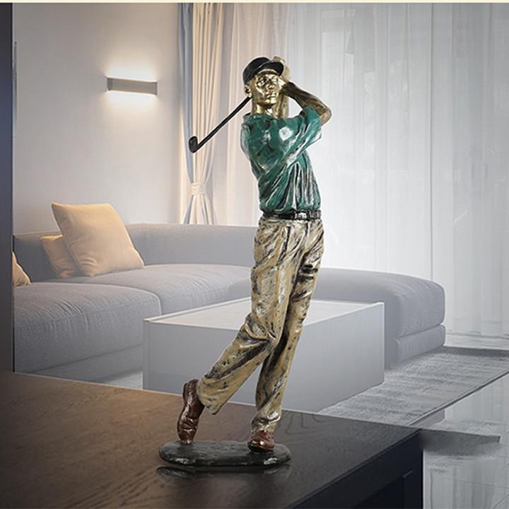 Bộ 4 tượng người chơi golf decor trang trí phòng khách