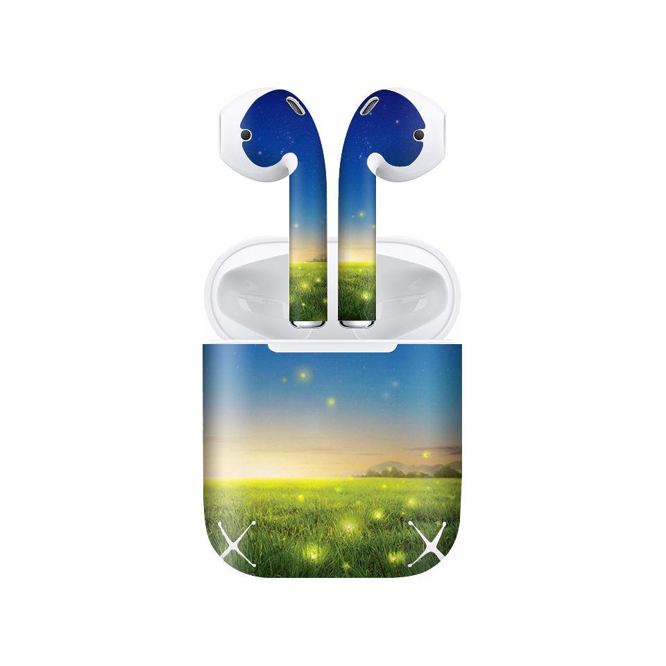 Miếng dán skin chống bẩn cho tai nghe AirPods in hình thiết kế - atk387 (bản không dây 1 và 2)