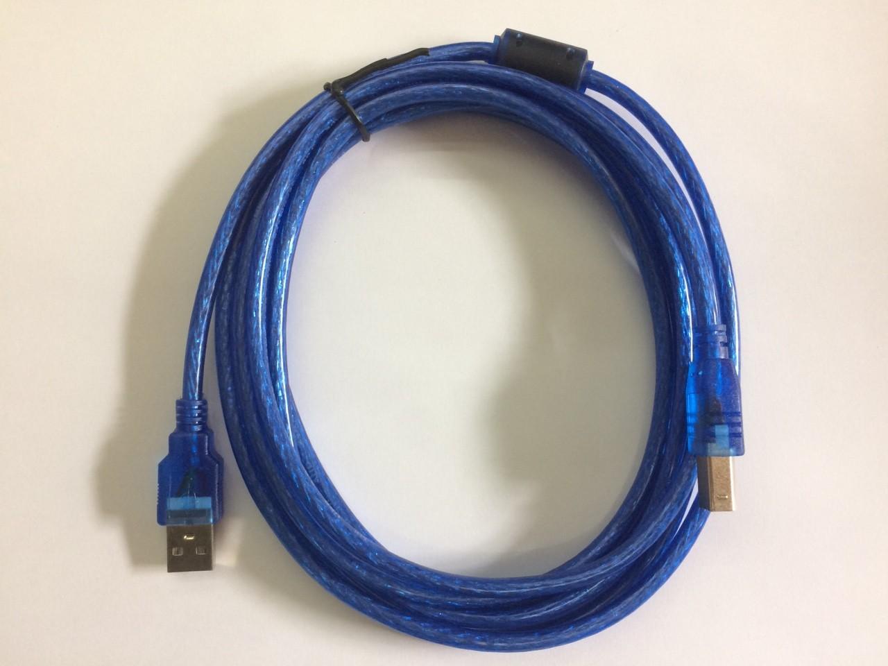 Dây cáp kết nối máy in USB dài 3m( xanh)