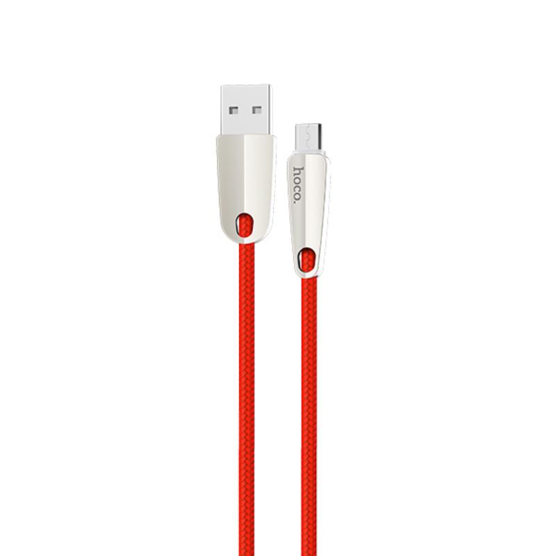 Cáp sạc nhanh 2.4A Hoco chuẩn Micro USB U35, cáp bọc dù siêu bền, dành cho Samsung, Xiaomi, Huawei, Vivo, Sony - Hàng chính hãng