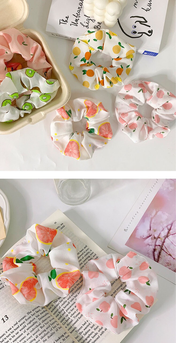 Dây Buộc Tóc Scrunchies, Chun Buộc Tóc Hình Trái Cây Dễ Thương SC13