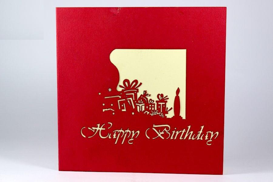 Thiệp 3d - Món quà sinh nhật tình yêu - NV24