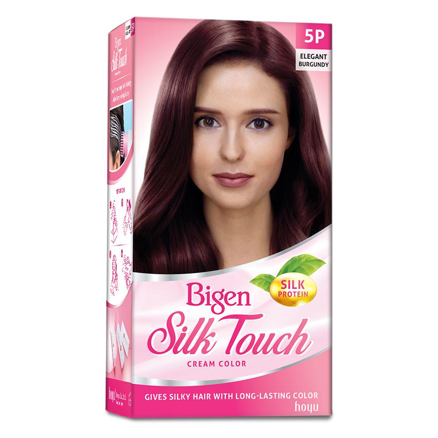 Thuốc nhuộm dưỡng tóc phủ bạc thảo dược Bigen Silk Touch Thương hiệu Nhật Bản Sắc Màu trẻ trung 80ml dạng kem