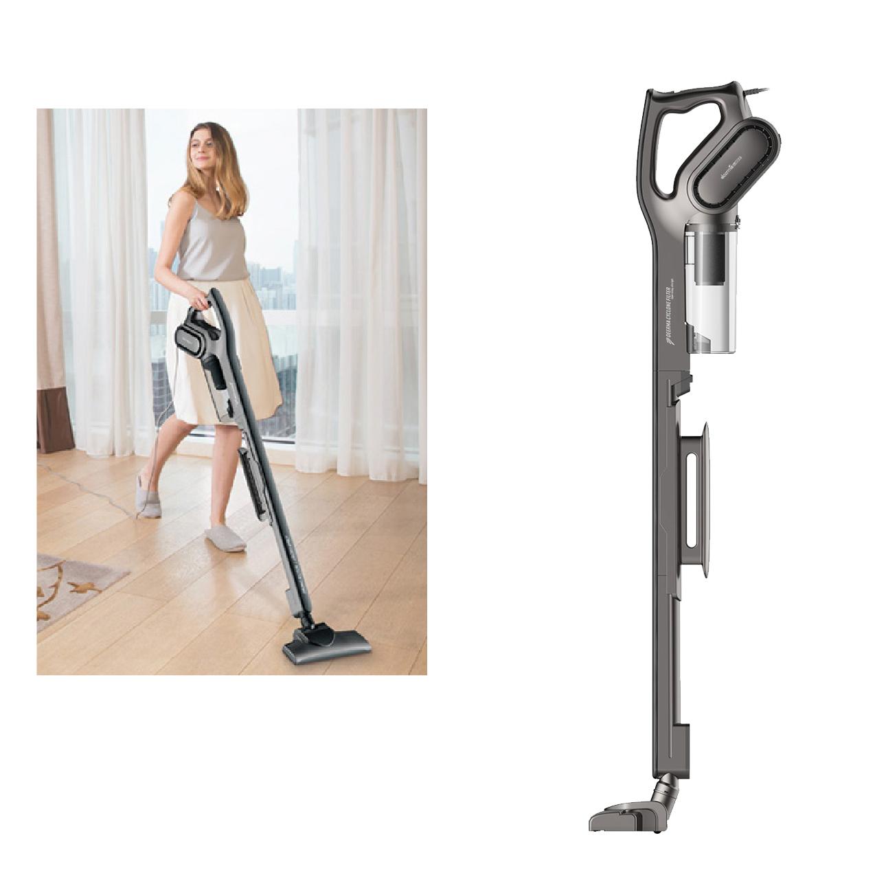 Máy Hút Bụi Cầm Tay Deerma Vacuum Cleaner DX700S (Xám đen) - Hàng chính hãng