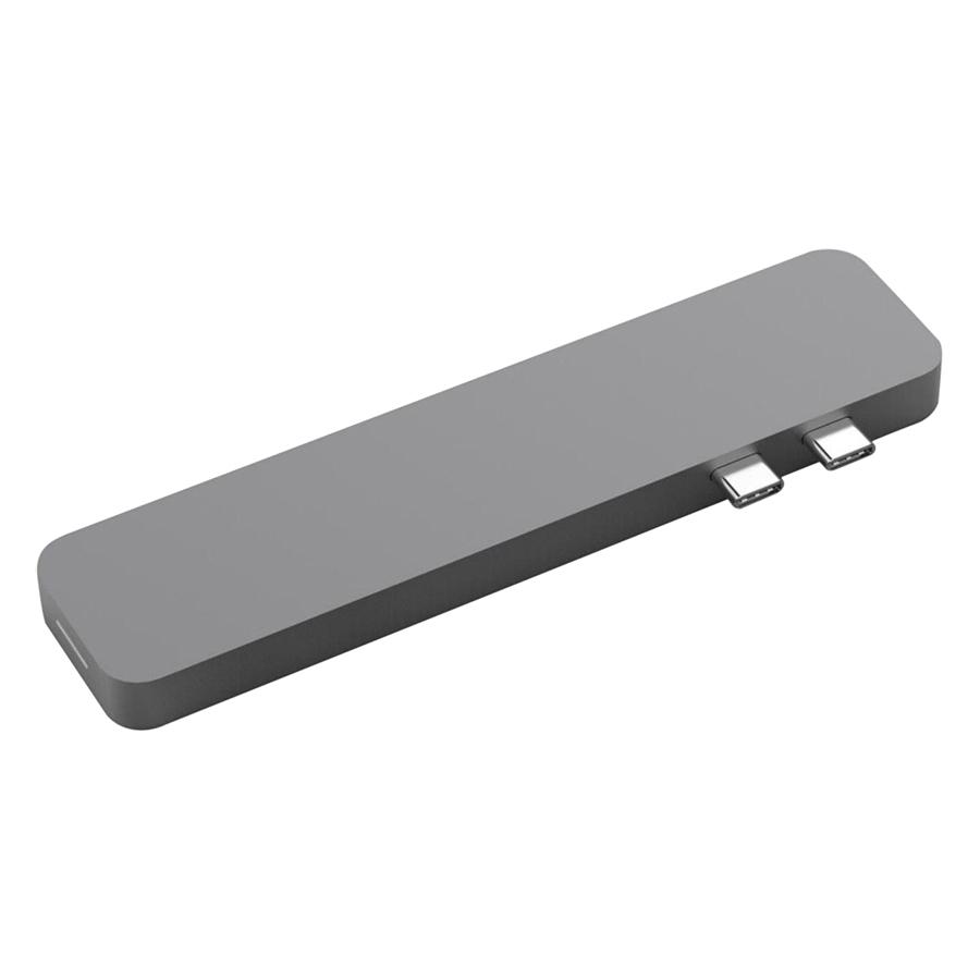 Cổng Chuyển Hyperdrive USB-C Pro 8 In 2 Hub (Xám) - Hàng Chính Hãng