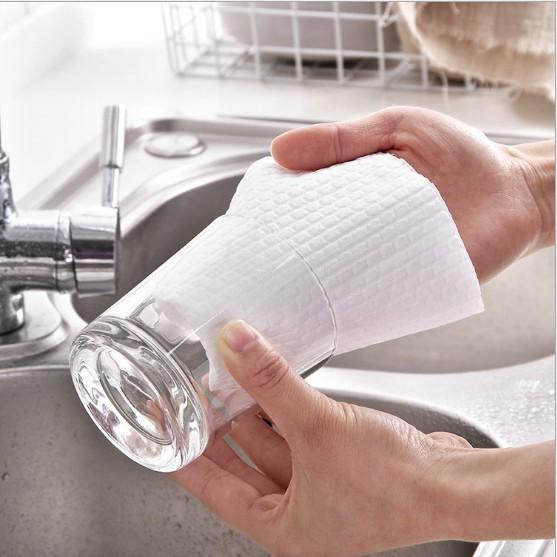 Cuộn 50 Khăn Cao Cấp Lau Bếp Đa Năng H̴À̴N̴G̴ ̴S̴I̴Ê̴U̴ ̴T̴H̴Ấ̴M̴Khăn giấy lau bát thấm nước, dai, KHÔNG dính dầu