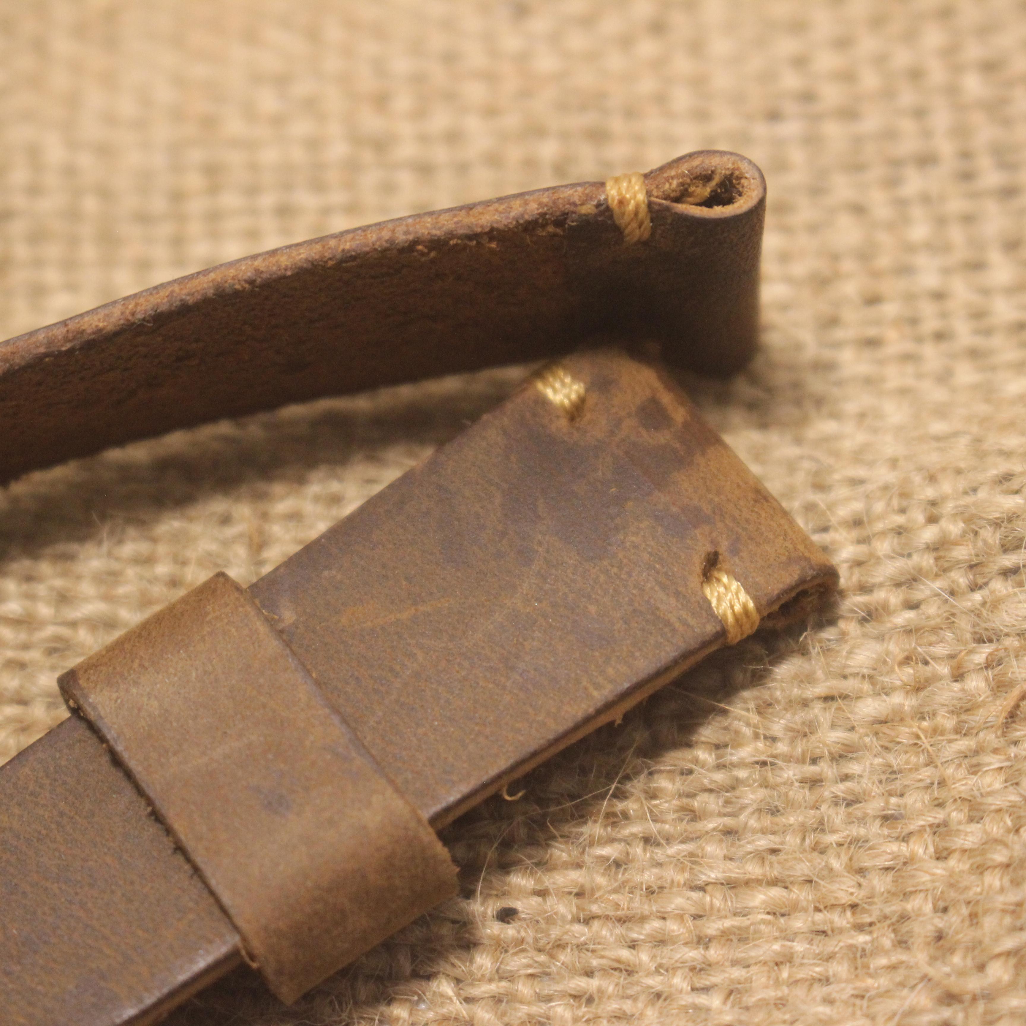 Dây Đồng Hồ Da bò nâu sang trọng + Tặng bộ khóa + Size 20mm