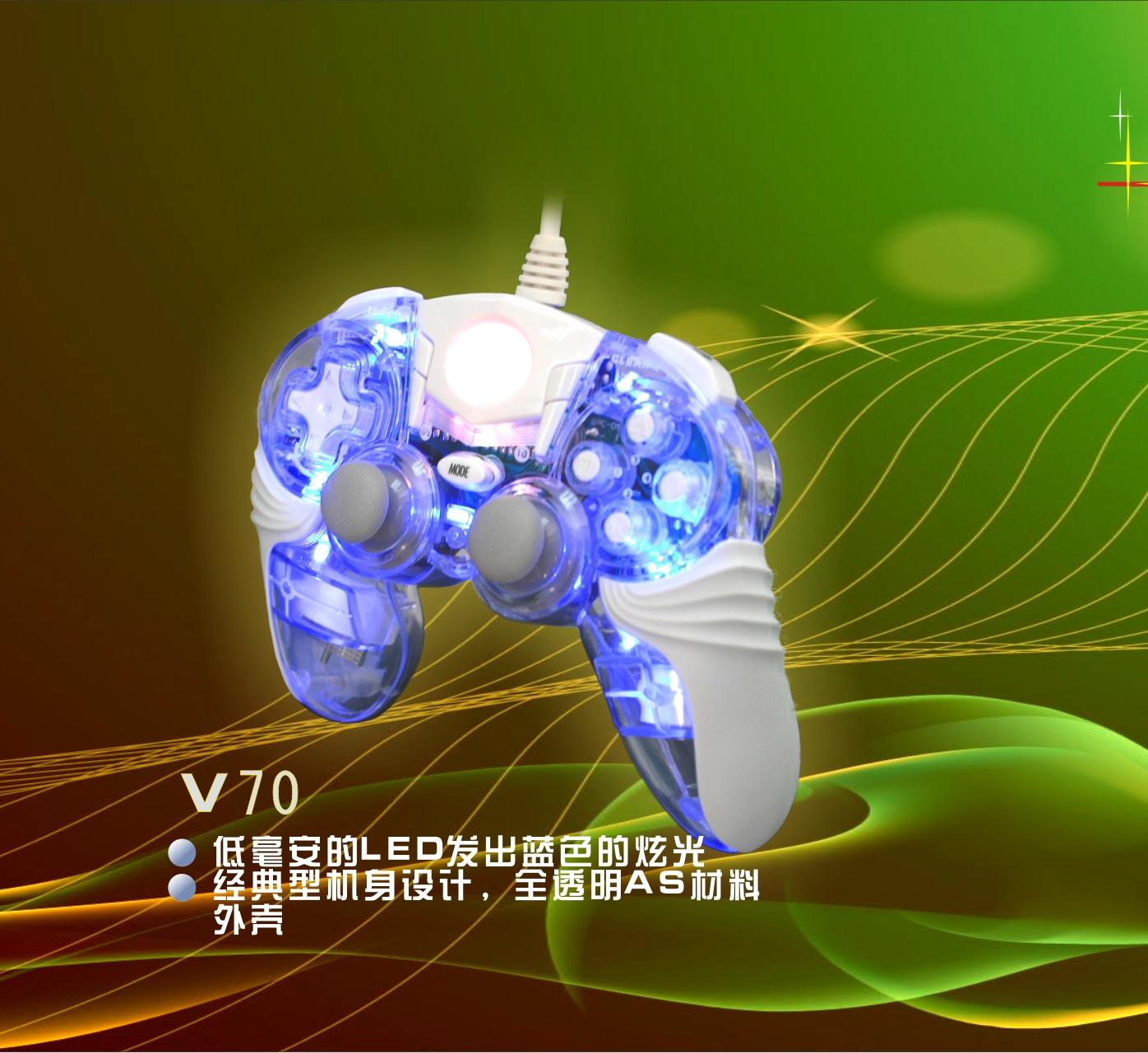Tay Cầm Chơi Game USB Nazar V70 Trong Suốt - Hàng Nhập Khẩu (Màu ngẫu nhiên)