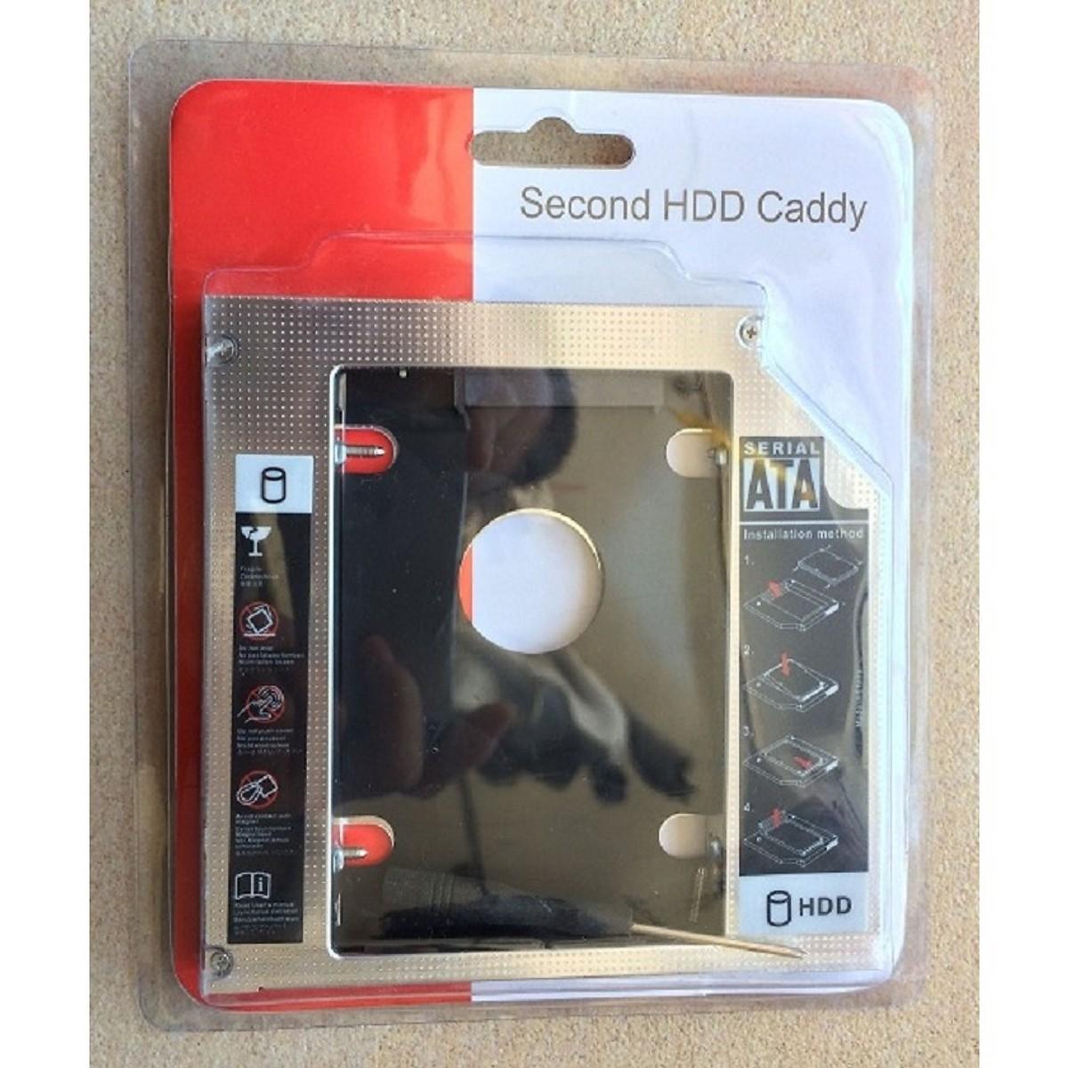 Khay ổ cứng laptop (Caddy Bay) dày 12,7mm - Hàng Nhập Khẩu