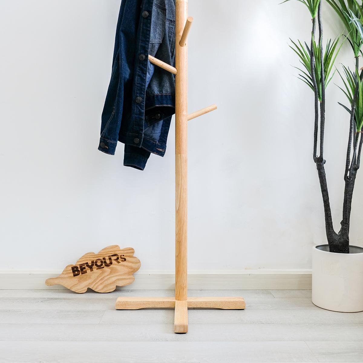 Cây Treo Quần Áo Đồ Gỗ BEYOURs Thông Minh - Móc Treo Quần Áo Standing-Hanger - Nội Thất Phòng Khách, Phòng Ngủ - Gỗ Tự Nhiên