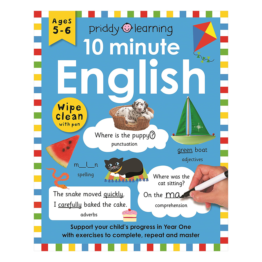 Priddy Learning 10 Minute English Wipe Clean Workbook (Ages 5+)