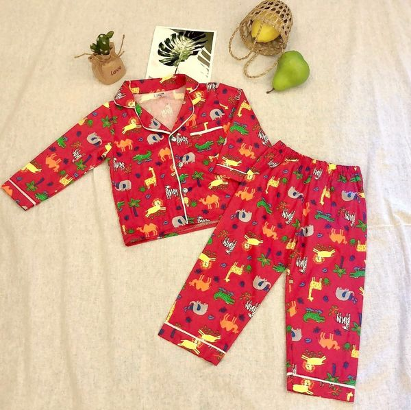 Đồ bộ bé gái, bộ pijama cho bé gái size 12-16kg chất kate mềm mát