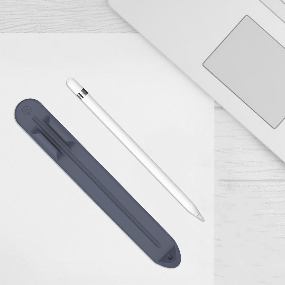 Thanh silicon kẹp bút dành cho Apple Pencil 1, Apple Pencil 2 khay cài bút hít nam châm, mặt dính keo dán bao da ốp lưng- Hàng chính hãng