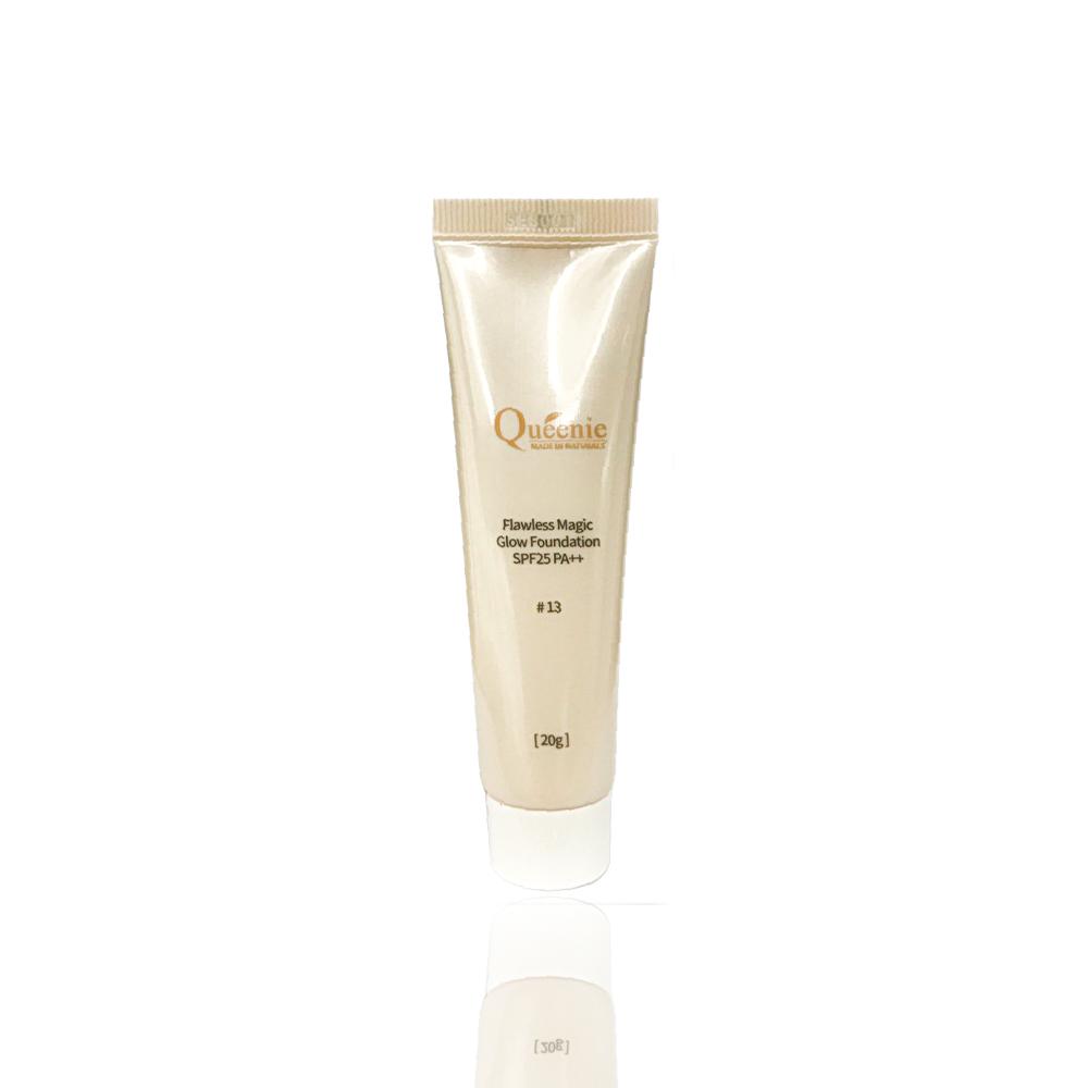Bộ mỹ phẩm trang điểm Queenie gồm kem lót, kem nền chống nắng 20ml