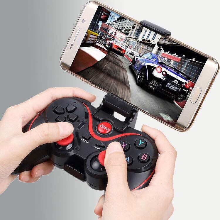 Tay cầm chơi game Bluetooth Terios X3 + Giá đỡ Điện Thoại (Thế Hệ Mới Nhất)