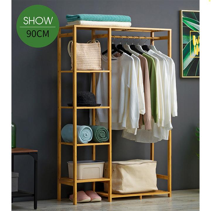 Tủ quần áo trống khung gỗ tre RE0269