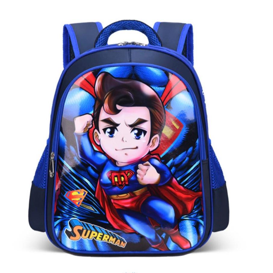 Ba lô cho bé trai tiểu học siêu nhân Superman S215