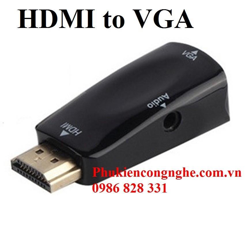 Đầu chuyển đổi HDMI to VGA có hỗ trợ Audio