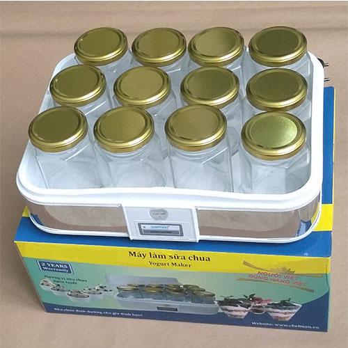 Máy làm sữa chua cao cấp kèm 12 cốc thủy tinh