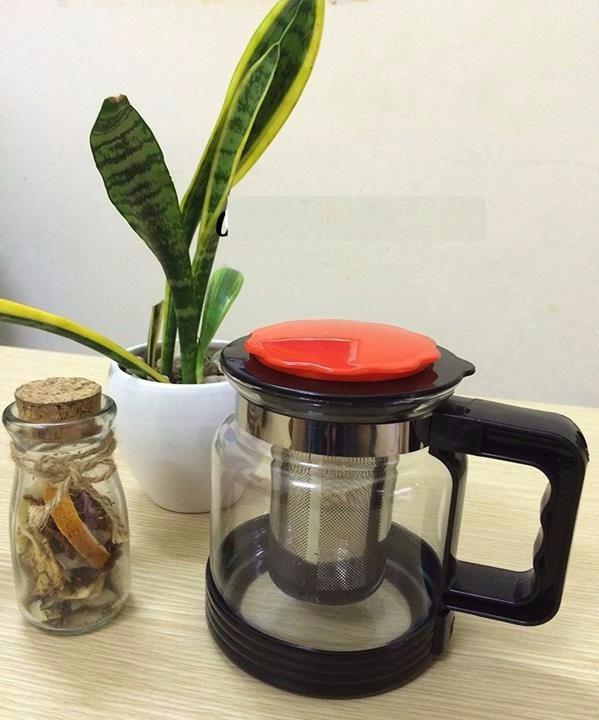 Ấm Pha Trà Và Cafe Đầu Lọc Inox 1800ml
