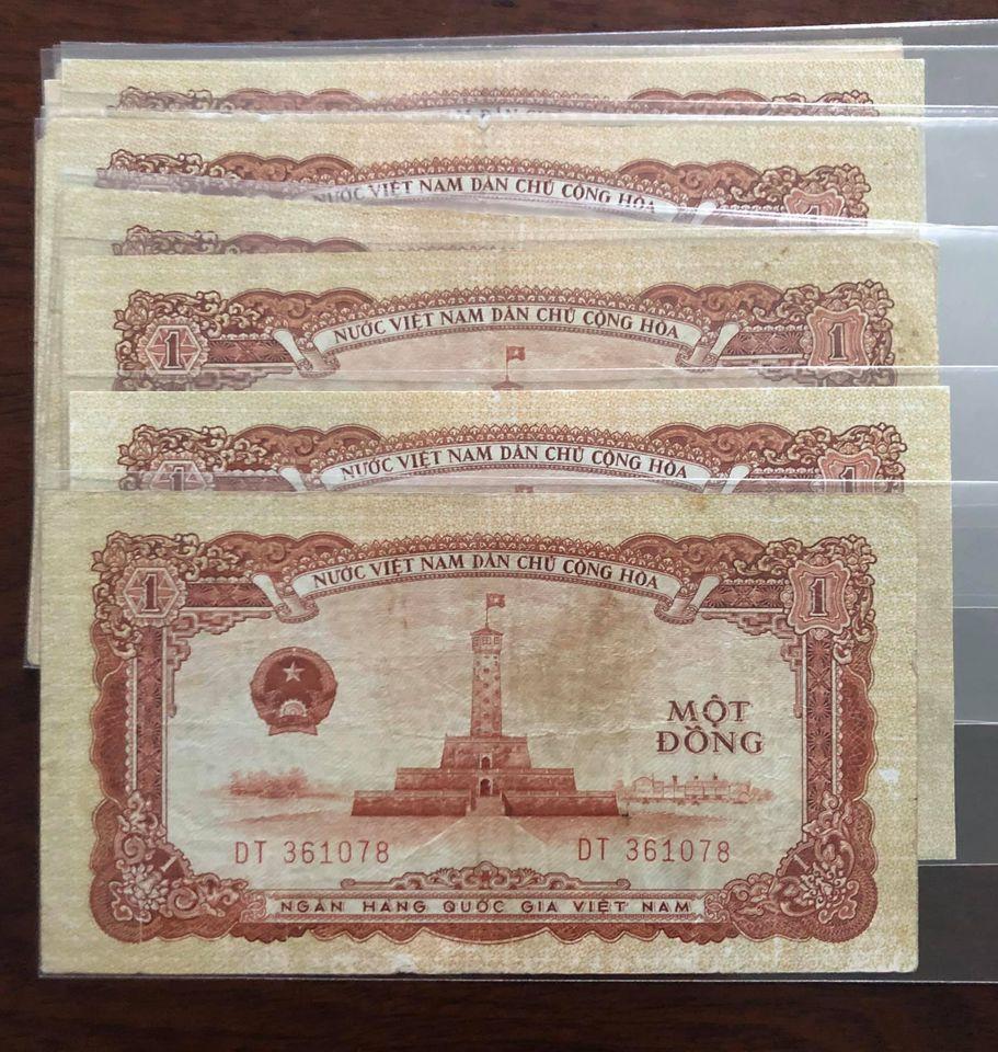 Tờ tiền cổ Việt Nam 1 đồng 1958, sưu tầm