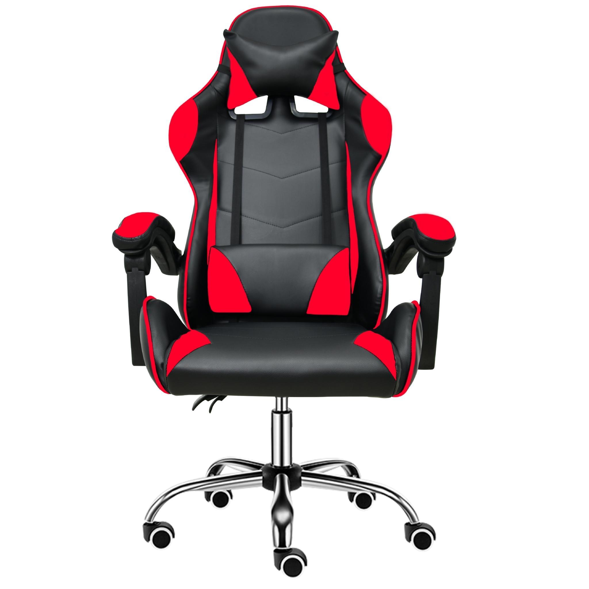 BG Ghế chơi game cao cấp dành cho các game thủ, chân xoay ngã 135 độ Mẫu E02N01 màu đỏ phối đen (Hàng nhập khẩu)