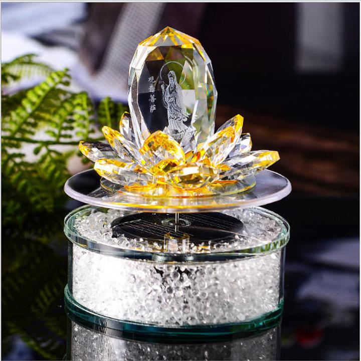 Đế xoay Năng lượng hoa sen Phật Quan Âm