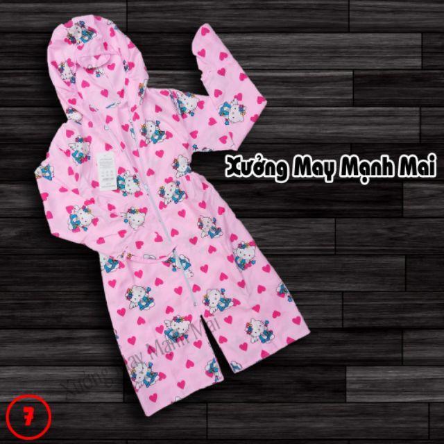 Áo chống nắng 2 lớp dáng dài cho bé gái 20-30kg