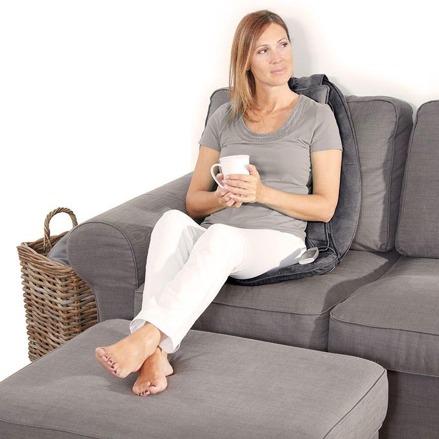 Đệm ghế massage con lăn bấm huyệt Lanaform Relax Mass nhập khẩu Bỉ