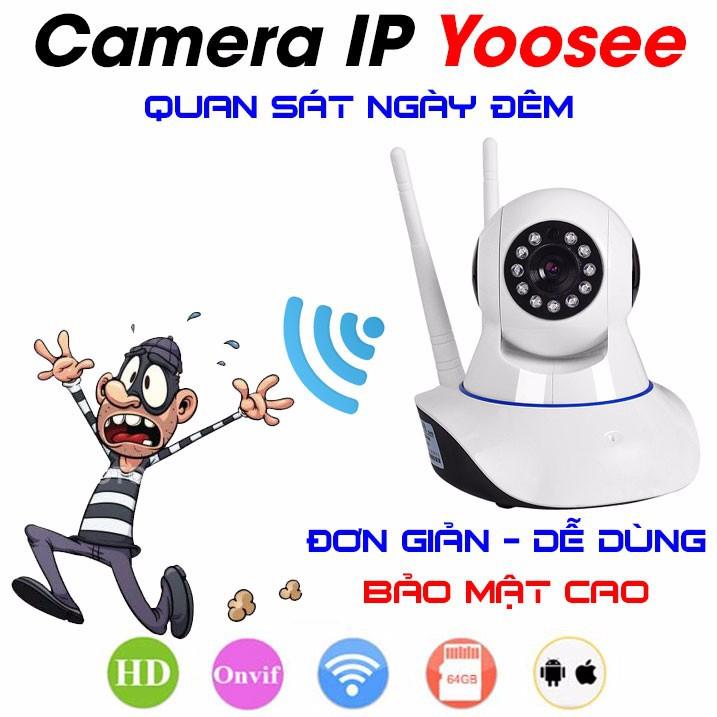 Camera Yoosee 3 râu không dây chính hãng quay 360 độ