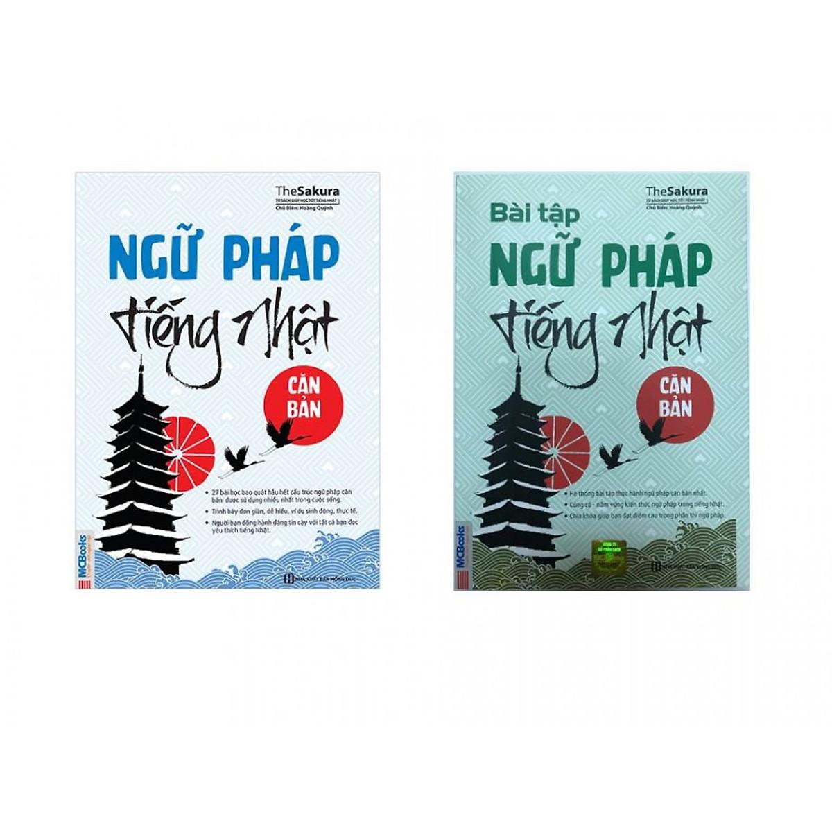 Combo Ngữ Pháp Tiếng Nhật Căn Bản và Bài Tập Ngữ Pháp Tiếng Nhật Căn Bản ( tái bản )