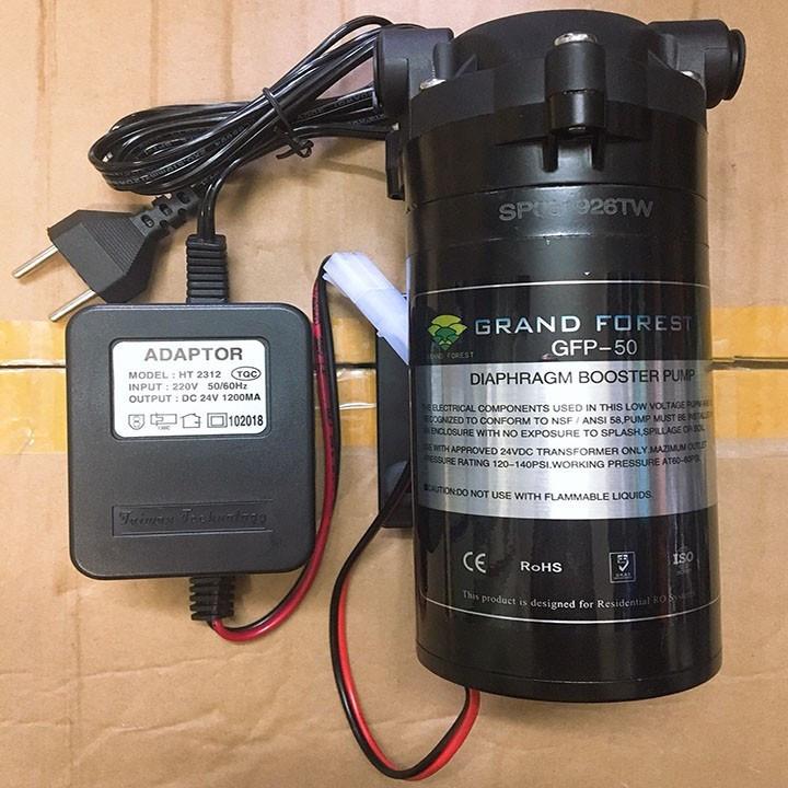 Máy bơm nước mini 24V có thể dùng bơm phun sương áp lực kèm nguồn Adaptor 24V 1