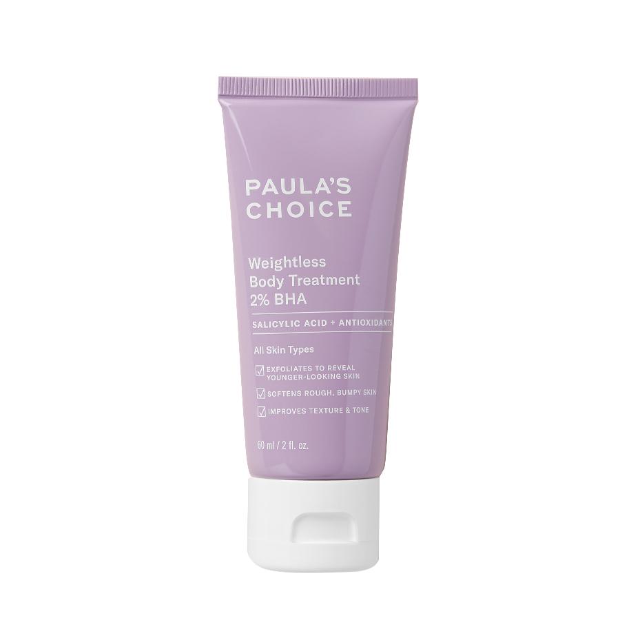 Kem dưỡng thể làm giảm viêm lỗ chân lông,mẩn đỏ Paula's Choice Weightless Body Treatment 2% BHA 60ml