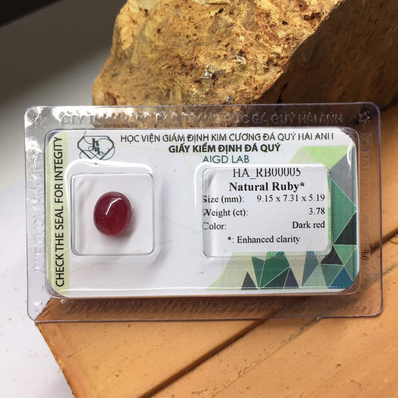 Viên đá Ruby thiên nhiên_HA-RB00005