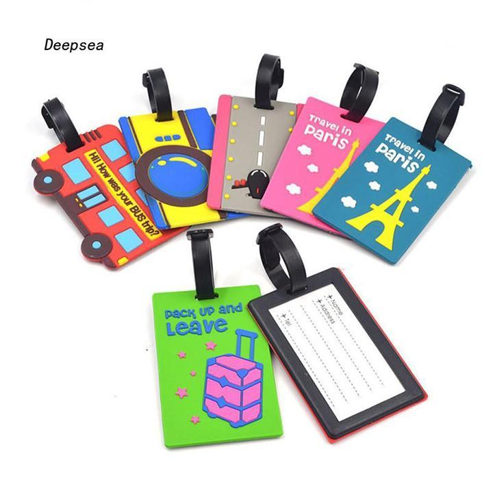 Name tag Thẻ ghi nhớ balo hành lý vali Nametag ngộ nghĩnh cute F719SP1