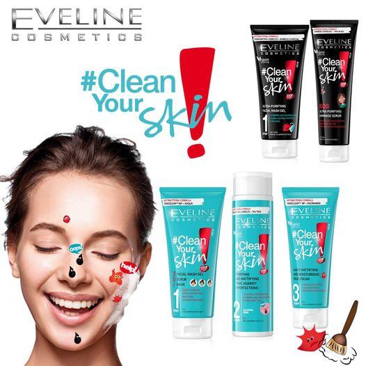 Tẩy da chết sạch sâu ngừa mụn Eveline Clean Your Skin 100ml