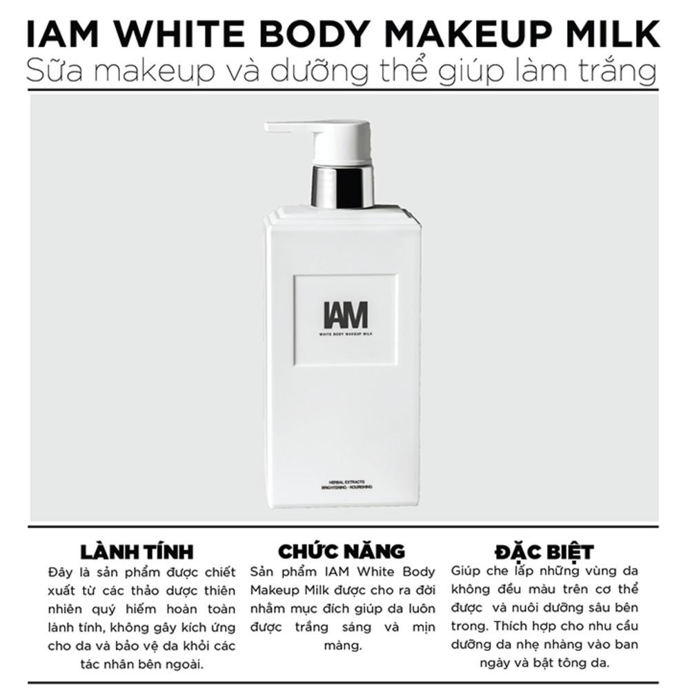 IAM WHITE BODY MAKEUP MILK - 300ML - Sữa Makeup và dưỡng thể giúp làm trắng da