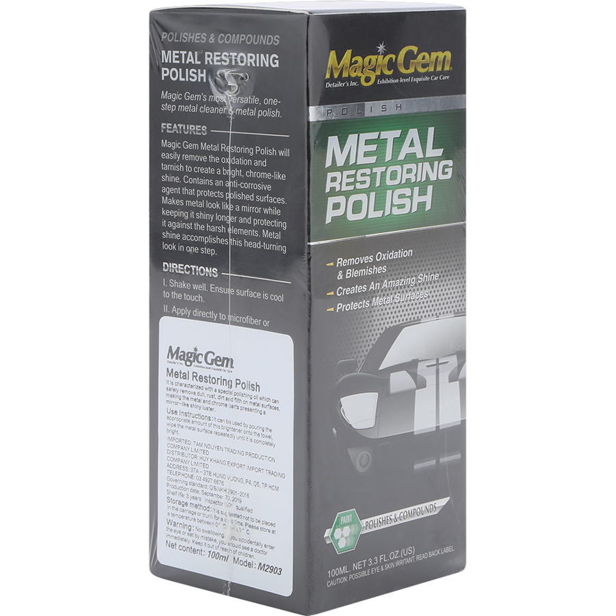Chai Tẩy Gỉ Sét Inox Metal Restoring Polish Magic Gem M2903 (100ml)