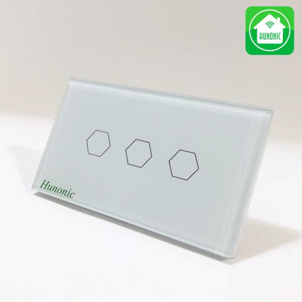 Công tắc wifi chính hãng hunonic 3 kênh