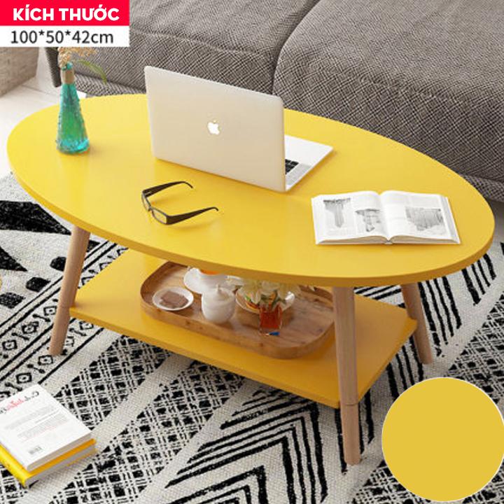 Bàn Cafe, bàn sofa 2 tầng ASBK2008 ( Mầu ngẫu nhiên )